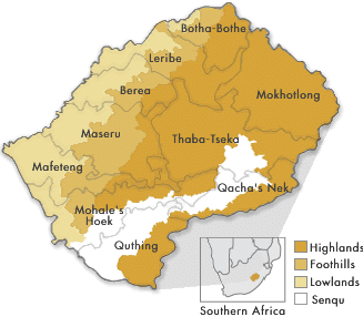 Agro ecological zones of Lesotho the study area 2