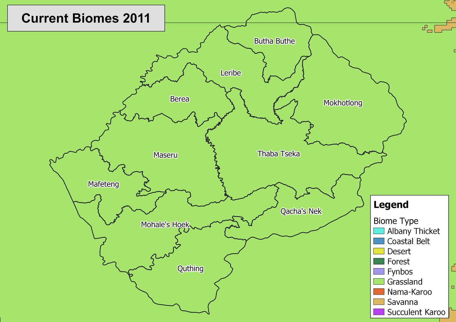 Lesotho currentBiomes 1